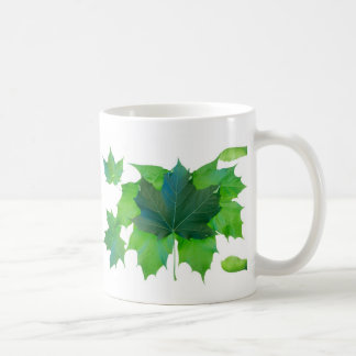 Spring maple leaves and seed pods coffee mug