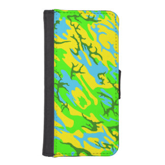 Spring Meadow Camo Wallet Phone Case For iPhone SE/5/5s