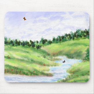 Spring meadow mouse pad
