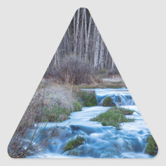 Spring Melt Off Flowing Down From Bonanza Triangle Sticker