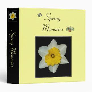 'Spring Memories' Binder/Album 3 Ring Binder