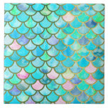 "Spring Mermaid Watercolor Scales- Mermaidscales Tile<br><div class=""desc"">This pretty sparkling Mermaid Glitter Scales design is for all Luxury Fashion Lovers. I created with more than 130 different watercolor layers. A beautiful fresh blue and aqua turquoise and spring like Design. It is the perfect gift for her for the stylish lady, perfect for her birthday, sweet sixteen favor,...</div>"