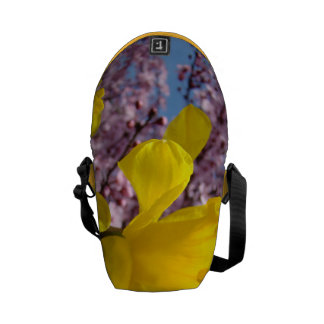 Spring Messenger Bag gifts Daffodils Blossoms