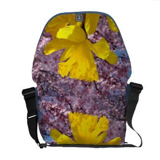 Spring Messenger Bag nature custom Daffodils