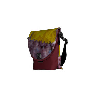 Spring Messenger Bags Pink Blossoms Daffodils