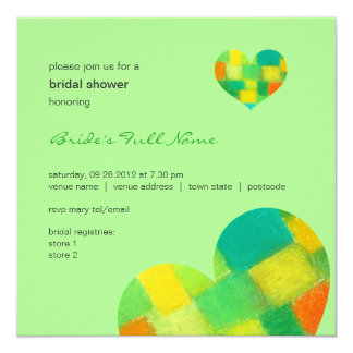 "Spring mint Bridal Shower Invitation 5.25"" Square Invitation Card"