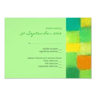 Spring mint RSVP Card Invitation