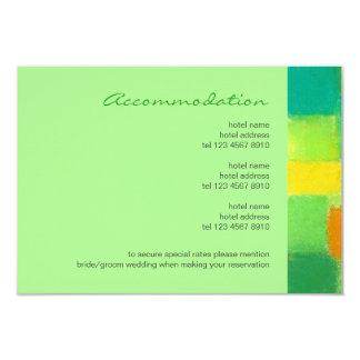 "Spring mint Wedding Enclosure Card 3.5"" X 5"" Invitation Card"