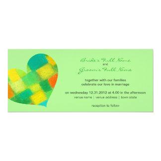 "Spring mint Wedding Invitation 4"" X 9.25"" Invitation Card"