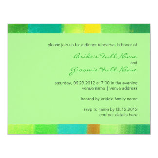 "Spring mint Wedding Rehearsal Dinner Invitation 4.25"" X 5.5"" Invitation Card"
