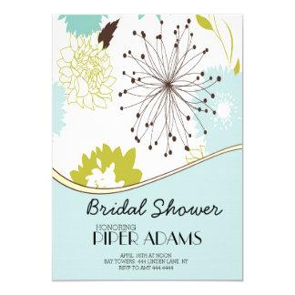 Spring Modern Floral Bridal Birthday Invitations