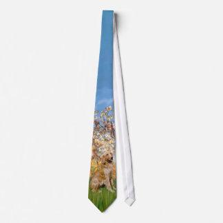 Spring (Monet) - Golden Retriever Neck Tie