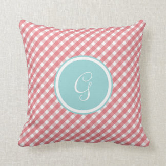 Sprin'G' Monogram Throw Pillow