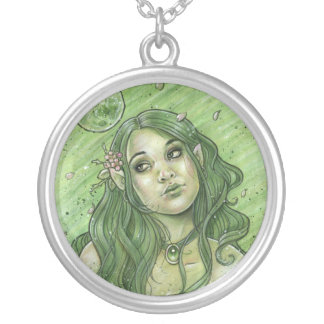 Spring Moon Fairy Round Necklace