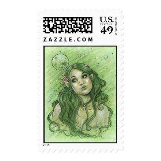 Spring Moon Postage Stamp
