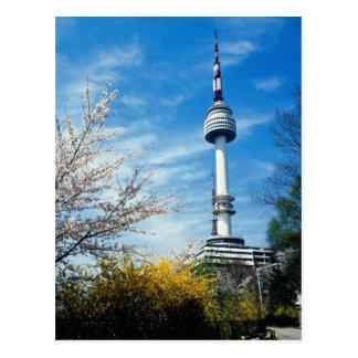 Spring, Namsan Tower, Seoul, South Korea Postcard