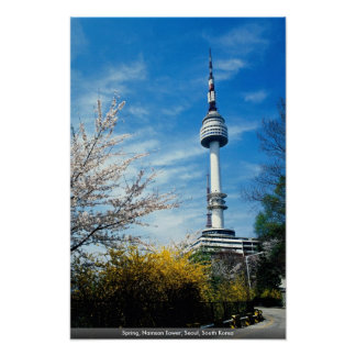 Spring, Namsan Tower, Seoul, South Korea Poster