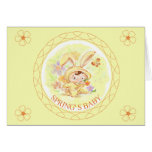 Spring New Baby Rabbit Illustration Stationery Note Card