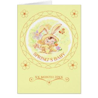 Spring New Baby Rabbit Illustration Card
