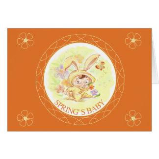 Spring New Baby Rabbit Illustration Cards