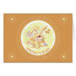 Spring New Baby Rabbit Illustration Greeting Card