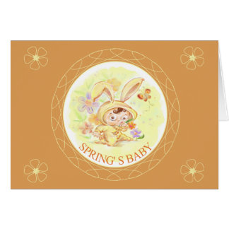 Spring New Baby Rabbit Illustration Greeting Cards