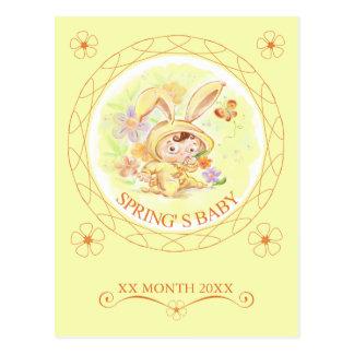 Spring New Baby Rabbit Illustration Postcard