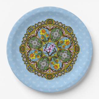 Spring Nouveau Paper Plate 9 Inch Paper Plate