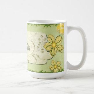 Spring Occasions Mixed Media CUSTOM Name Coffee Mug
