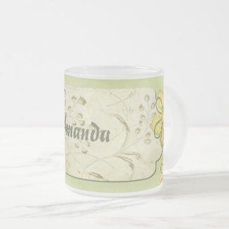 Spring Occasions Mixed Media CUSTOM Name Frosted Glass Coffee Mug