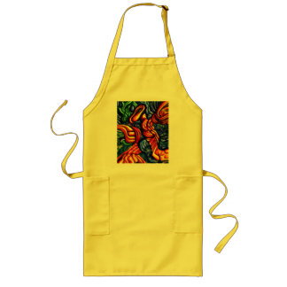 spring of the air abstract apron smock