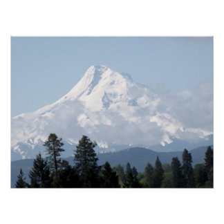 Spring on Mt Hood Oil Painting Poster
