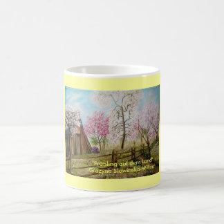 Spring on the country coffee mug