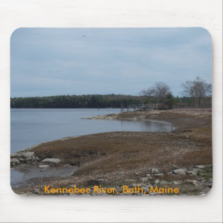Spring on the Kennebec - Bath, Maine Mouse Pad