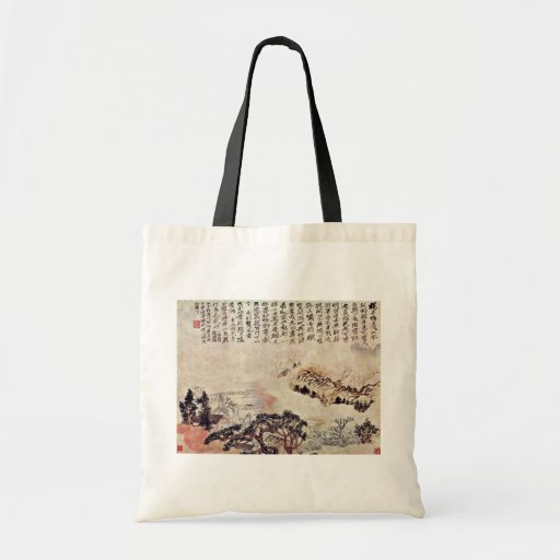 Spring On The Min River By Tao Chi (Best Quality) Bags