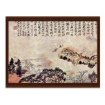 Spring On The Min River By Tao Chi (Best Quality) Postcard