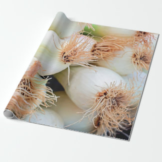 spring onions wrapping paper