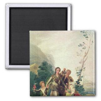 Spring or the Flower Seller, 1786 Fridge Magnet