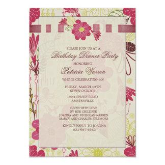 "Spring Overlay Invitation 5"" X 7"" Invitation Card"