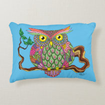 Spring Owl Accent Pillow