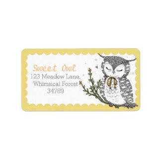 Spring Owl Address Labels