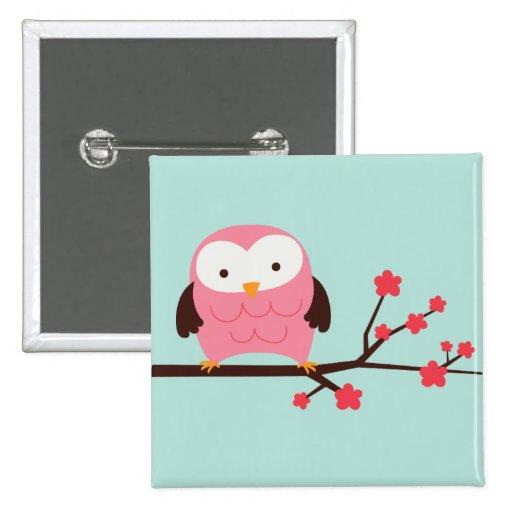 Spring Owl Button