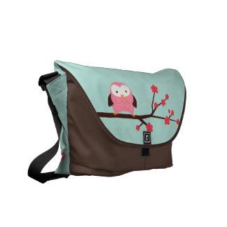 Spring Owl Custom Messenger Bag