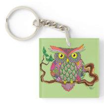 Spring Owl Keychain