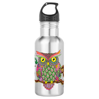 Spring Owl Water Bottle