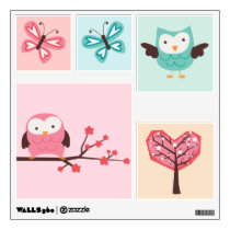 Spring Owls Wall Decal