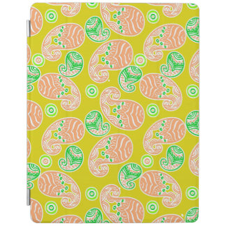 Spring Paisley on Yellow iPad Cover