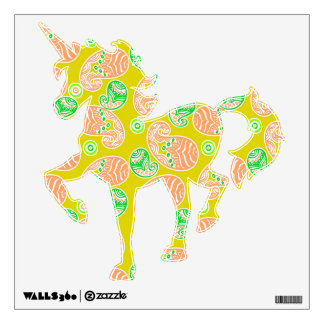 Spring Paisley on Yellow Wall Sticker