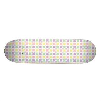 Spring Pastel Diamond Pattern Skate Decks