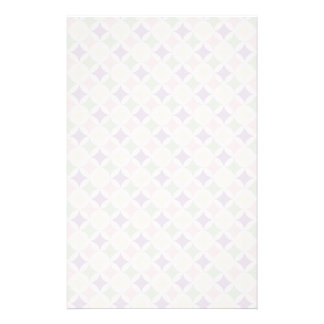 Spring Pastel Diamond Pattern Stationery